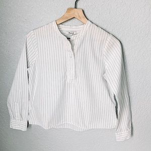 Madewell Pinstripe Button Down Top Size XS